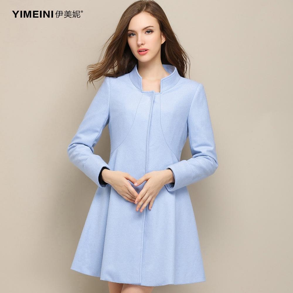 春季新款撞色领部系带羊毛针织收腰连衣裙女